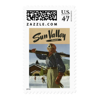 Sun Valley Idaho Vintage Travel postage stamps