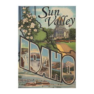 Sun Valley, IdahoLarge Letter Scenes Canvas Print