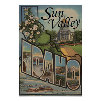 Sun Valley, IdahoLarge Letter Scenes Poster