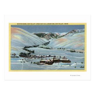 Sun Valley, identificación - escena del invierno, Postales