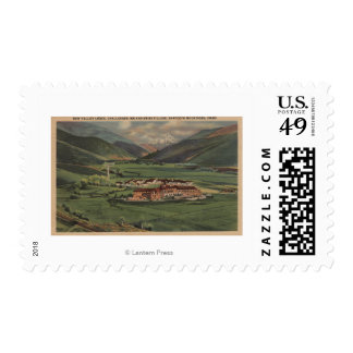Sun Valley, IDView of Sun Valley Lodge Stamp