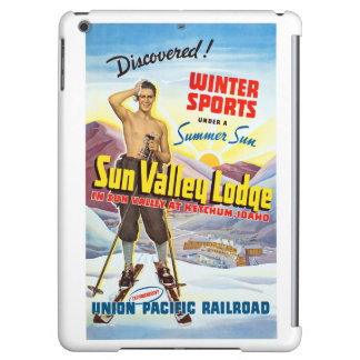Sun Valley Lodge Restored Vintage Travel Poster Case For iPad Air