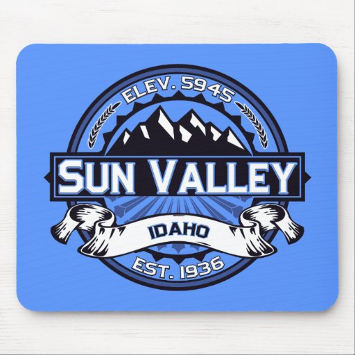Sun Valley Logo Blue Mouse Pad