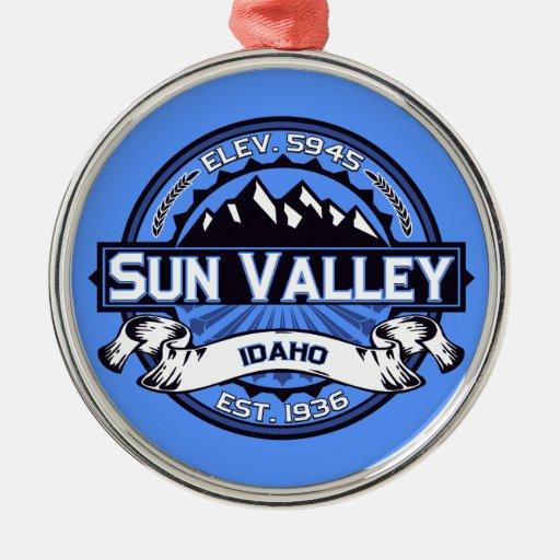 Sun Valley Logo Blue Ornaments