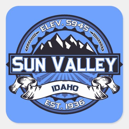 Sun Valley Logo Blue Square Sticker