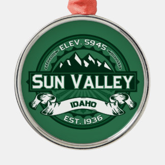 Sun Valley Logo Forest Metal Ornament