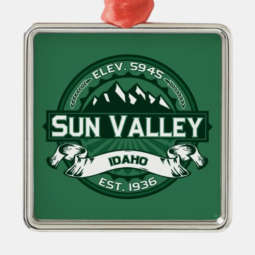 Sun Valley Logo Forest Christmas Tree Ornament