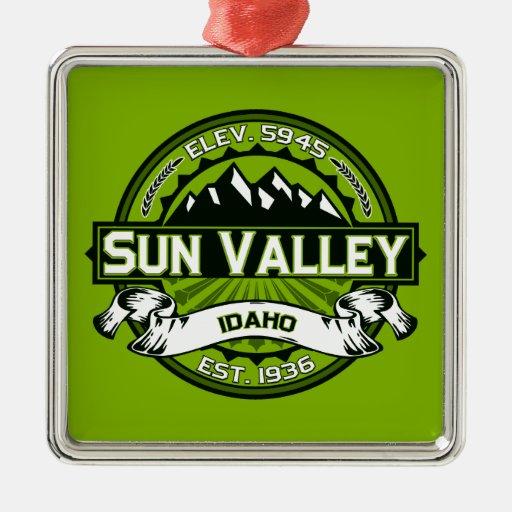 Sun Valley Logo Green Christmas Ornaments