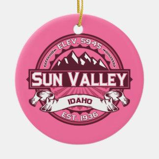 Sun Valley Logo Honeysuckle Ceramic Ornament