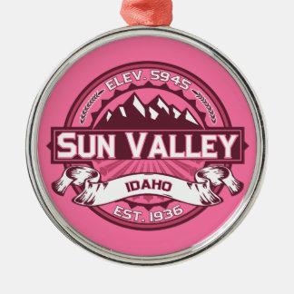 Sun Valley Logo Honeysuckle Metal Ornament