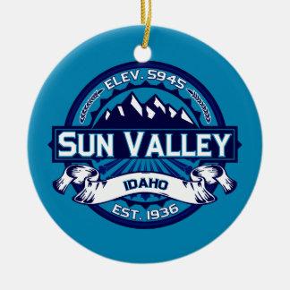 Sun Valley Logo Ice Ceramic Ornament