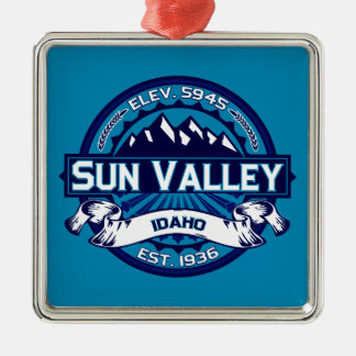 Sun Valley Logo Ice Metal Ornament