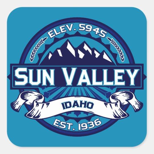 Sun Valley Logo Ice Square Sticker