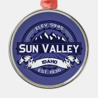 Sun Valley Logo Midnight Metal Ornament