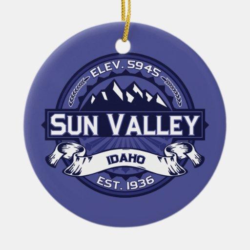 Sun Valley Logo Midnight Christmas Ornaments