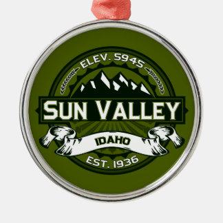 Sun Valley Logo Olive Metal Ornament