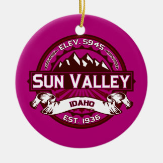 Sun Valley Logo Raspberry Ceramic Ornament