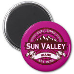 Sun Valley Logo Raspberry Refrigerator Magnets