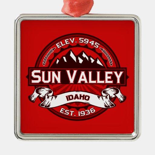 Sun Valley Logo Red Christmas Tree Ornament
