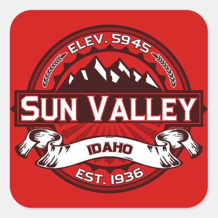 Sun Valley Logo Red Square Sticker