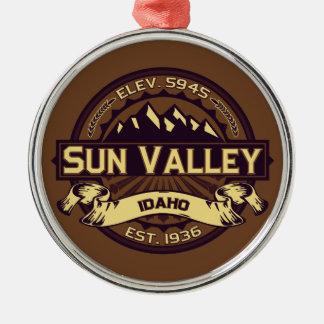 Sun Valley Logo Sepia Metal Ornament