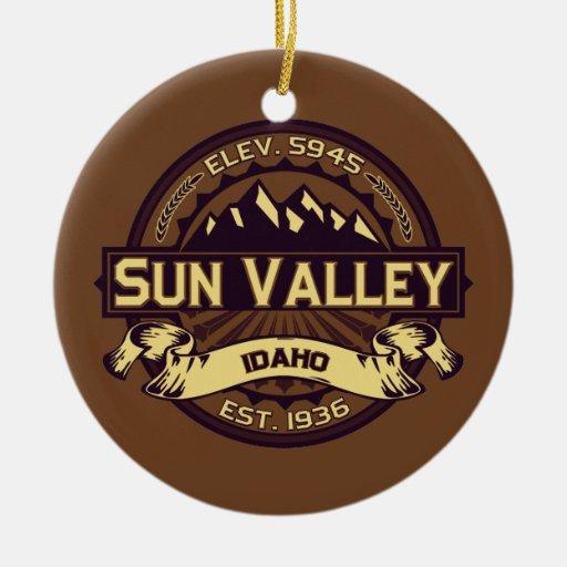 Sun Valley Logo Sepia Christmas Ornaments