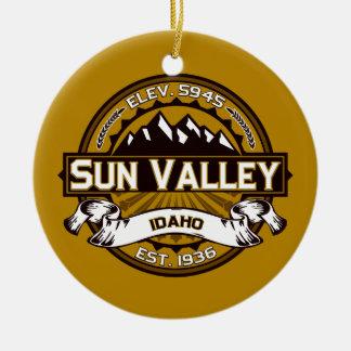 Sun Valley Logo Tan Ceramic Ornament