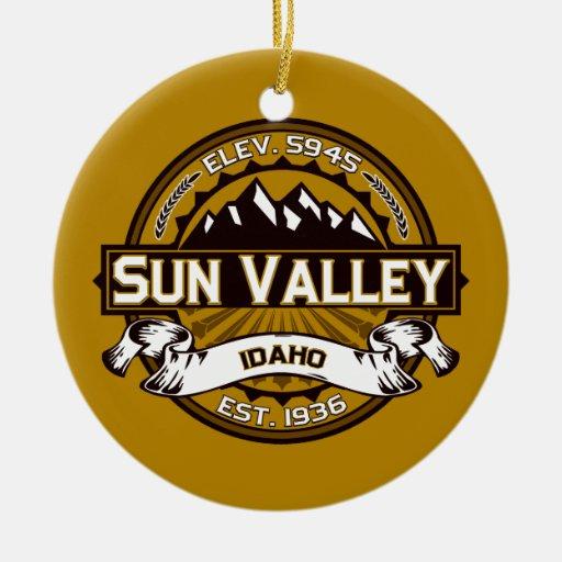 Sun Valley Logo Tan Christmas Tree Ornaments