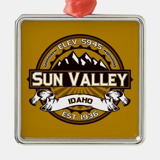 Sun Valley Logo Tan Ornament