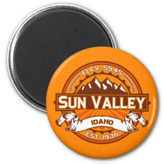 Sun Valley Logo Tangerine 2 Inch Round Magnet