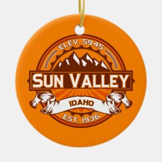 Sun Valley Logo Tangerine Ceramic Ornament