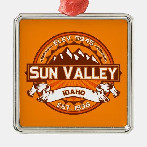 Sun Valley Logo Tangerine Christmas Tree Ornament