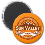 Sun Valley Logo Tangerine Refrigerator Magnets