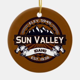 Sun Valley Logo Vibrant Ceramic Ornament