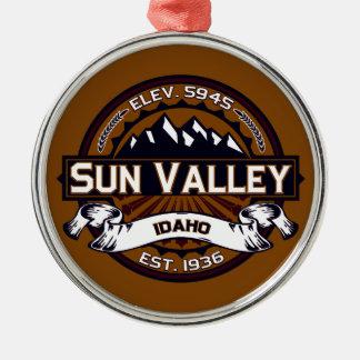 Sun Valley Logo Vibrant Metal Ornament