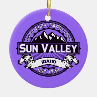 Sun Valley Logo Violet Ceramic Ornament