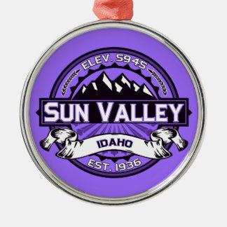 Sun Valley Logo Violet Metal Ornament