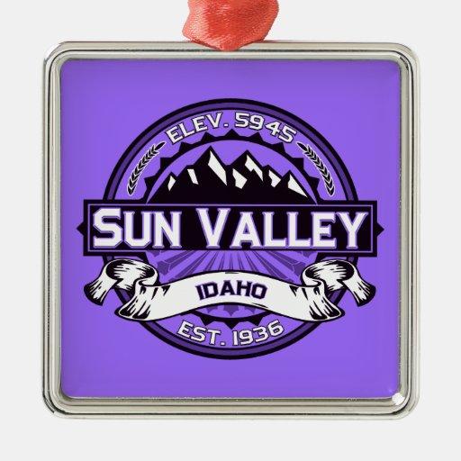 Sun Valley Logo Violet Christmas Ornaments
