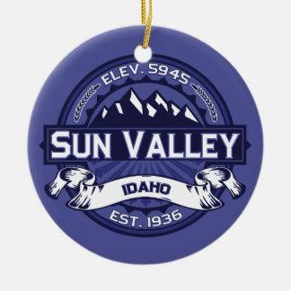 Sun Valley Midnight Ceramic Ornament