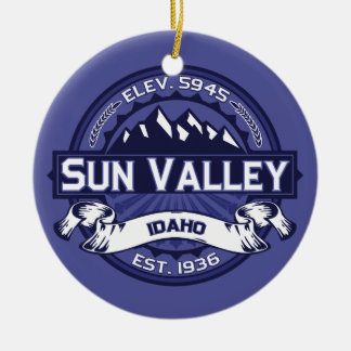 Sun Valley Midnight Double-Sided Ceramic Round Christmas Ornament