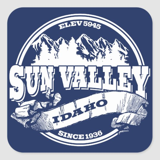 Sun Valley Old Circle White Square Sticker
