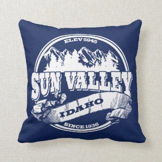 Sun Valley Old Circle White Throw Pillow