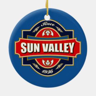 Sun Valley Old Label Ceramic Ornament