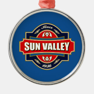 Sun Valley Old Label Metal Ornament