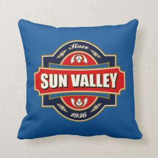 Sun Valley Old Label Throw Pillow