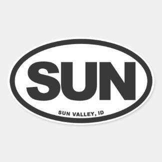 Sun Valley Pegatina Ovalada