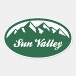 Sun Valley Pegatinas Oval Personalizadas