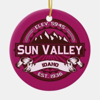 Sun Valley Raspberry Ceramic Ornament