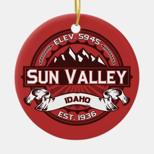 Sun Valley Red Christmas Ornament