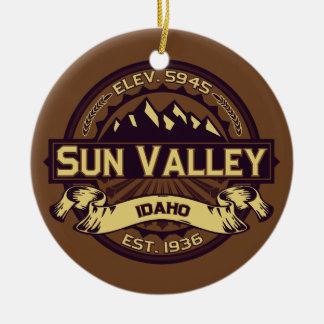 Sun Valley Sepia Ceramic Ornament